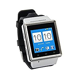 ZGPAX S6 Smart Watch Phone Smartphone Smartwatch 3G MTK6577 Dual Core Android 4.0 1.54 Inch Touch Screen GPS 2.0 MP Camera Wifi WCDMA GSM RAM 512MB ROM 4GB Unlock (Silver)