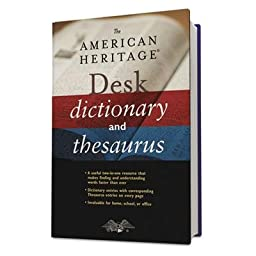 Houghton Mifflin - 2 Pack - American Heritage Desk Dictionary Hardcover 864 Pages \