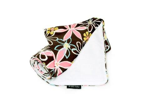 Ah Goo Baby Stroller Blanket, Retro Daisy, Chocolate/Multi, 1-Pack