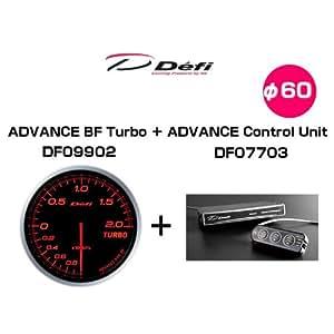 日本精機 Defi デフィ DF11405 アドバンスコントロールユニットセット DF09902(ターボ計アンバーレッド) + DF07703(コントロールユニット)