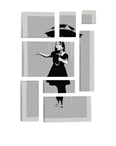 Banksy Nola Girl With Umbrella 8-Piece Giclée On Canvas