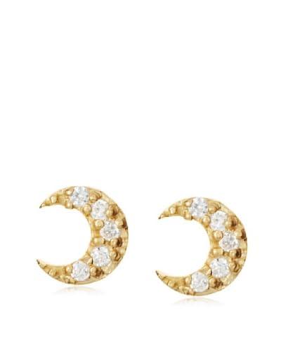 Fraydee Collection Half Moon Stud Earrings