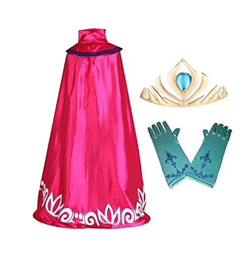 ELSA Coronation Cape, gloves, and tiara - Frozen Halloween Costume