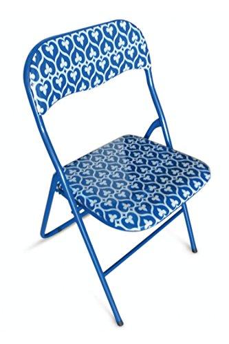 Galileo Casa Mandala Mandala Sedia Pieghevole, Seduta in PVC, Blu