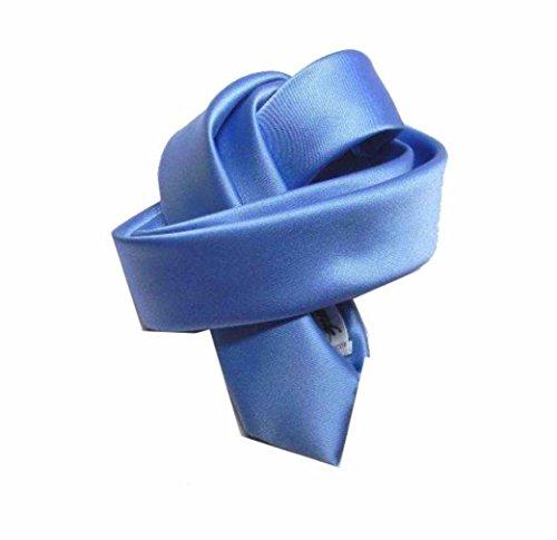 Avantgarde - Cravatta bambino elegante Cravattino per bambini dai 6 ai 12 anni, colore: azzurro