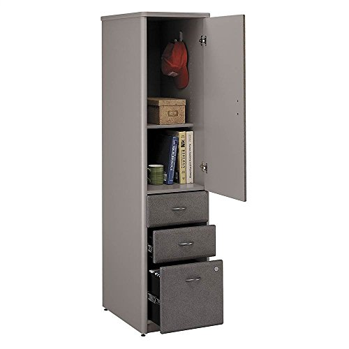 Assembled Vertical File Cabinet in Pewter Finish - Series A Assembled Bush