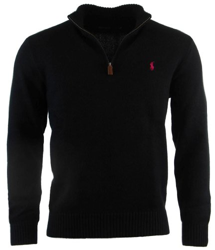 polo ralph lauren men s half zip pullover cotton sweater by polo ralph. Black Bedroom Furniture Sets. Home Design Ideas