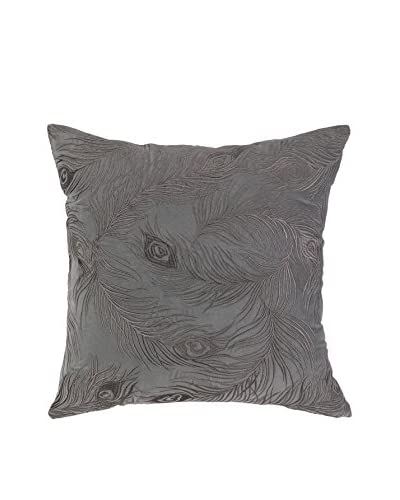 Nanette Lepore Villa Peacock Embroidered Pillow, Grey