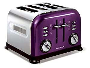 Morphy Richards Accents 44737 4 Slice Toaster - Plum