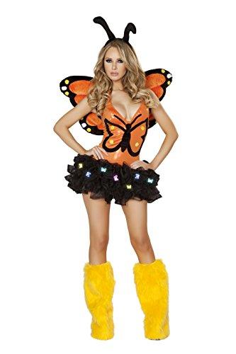 [J. Valentine Women's Butterfly Lights Tutu, Black, One Size] (Light Up Black Tutu)