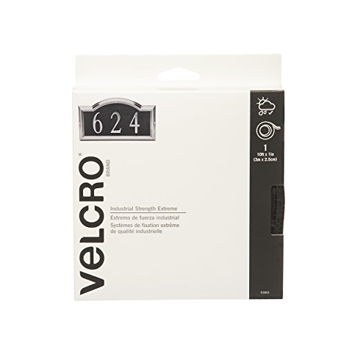 "VELCRO Brand - Industrial Strength - Extreme - 1"" Wide Tape, 10' - Black"