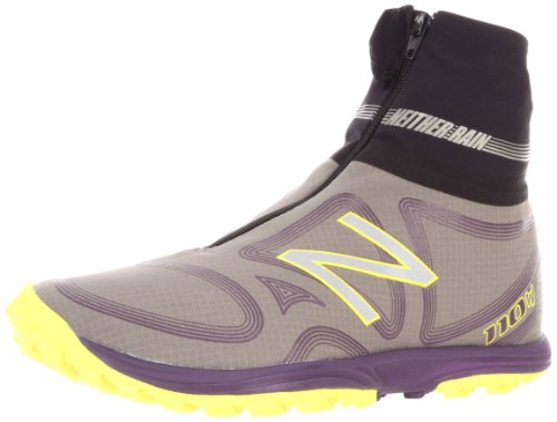 New Balance Women's Wt110 Trail Running Shoe,Grey/Purple,8 B US