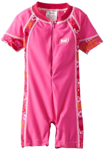 Baby BanZ UV One Piece Swim Suit, Pink Grafitti, 3-6 Months