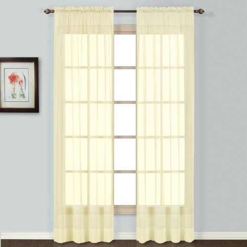 70S Beaded Door Curtains 108 Inch Sheer Curtain Panels