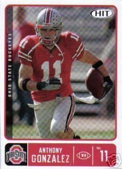 2007 Sage HIT 11 Anthony Gonzalez - Indianapolis Colts RC (Ohio State-WR) NFL Rookie Trading Card