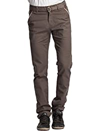 Beevee Men's Cotton Tapered Trousers - B01B7VCRSS