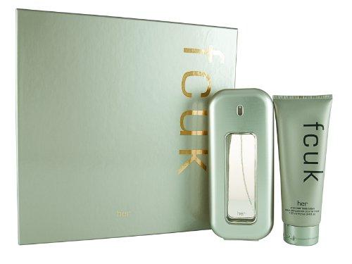 Fcuk Her Gift Set (EDT Spray 100ml/ Body Lotion 100ml)