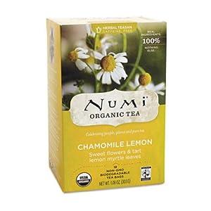 Numi Organic Tea Caffeine Free Chamomile Lemon - 18 Tea Bags, 18 Pack