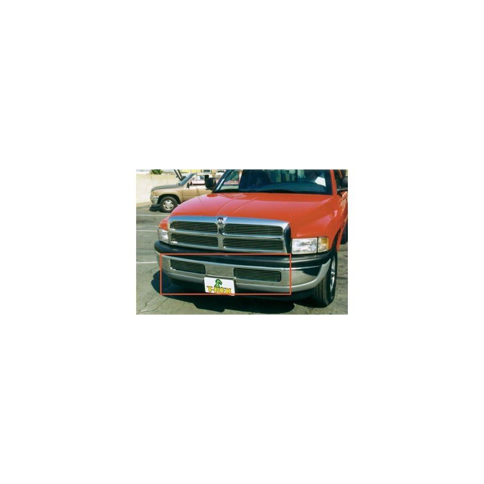 T Rex Grilles 1994   2001  Dodge Ram Pickup  Bumper Billet Grille Insert   6 Bars   Matching Grille # 20450 Except 99+ Sport