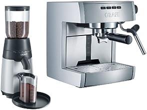 Graef Starter Set plu ES70EUSET - Siebträger-Espressomaschine ES 70 mit Kaffeemühle CM 70 im Set / silber, grau