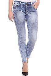 Fasnoya Women's Blast Wash Skinny Fit Jeans