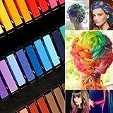 Haarkreide- Auswaschbare Temporäre Haarfarbe in 24 Farben Haar Kreide von Boolavard®
