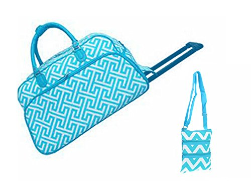 carry-on-rolling-duffel-travel-set-21-greek-key-design-and-zig-zag-cosmetic-bag