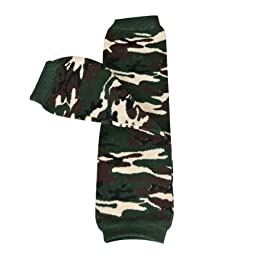 Wrapables Animals and Fun Colorful Baby Leg Warmers - Camouflage