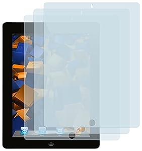3x mumbi Displayschutzfolie iPad 4 / iPad 3 / iPad 2 Schutzfolie CrystalClear unsichtbar