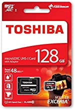 Comprar Toshiba EXCERIA M301-EA 128GB 128GB MicroSDXC UHS-I Class 10 memoria flash - Tarjeta de memoria (MicroSDXC, Negro, Rojo, UHS-I, Class 10, SD)