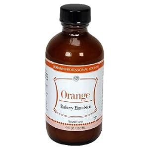 LorAnn Bakery Emulsions, Orange Bakery Emulsion, 4-Ounce Bottles (Pack of 4)
