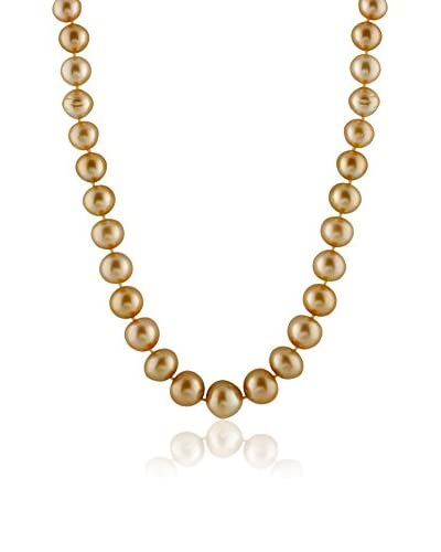Splendid 11-14mm Golden South Sea Pearl Necklace