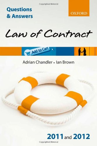 Q & A Law of Contract 2011 and 2012 (Questions & Answers (Oxford))