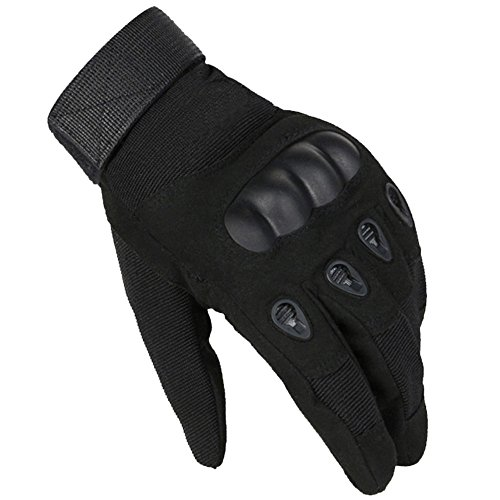 [gloves outdoor full finger army gloves antiskid sports @ SORNBA (BLACK, L)] (Soulwalker Costume)