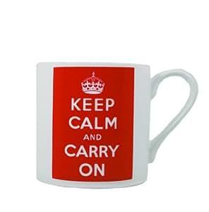 Keep Calm and Carry On Mug Bone China 16 oz