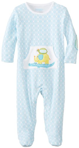 Happi By Dena Baby-Boys Newborn Elephant Coverall, Bright White, 0-3 Months
