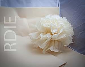24 feuilles de papier de soie Creme, 50x75cm, 18 grs