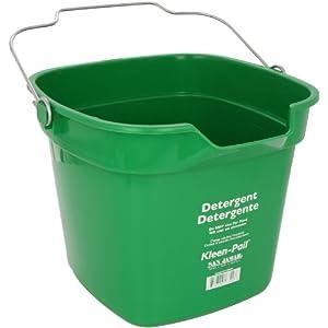 Amazon.com: San Jamar KP320 Green Kleen Pail Container, 10qt Capacity