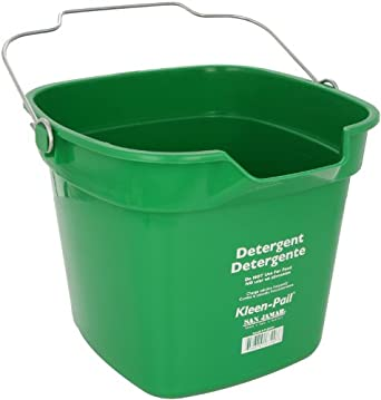 San Jamar KP320 Green Kleen Pail Container, 10qt Capacity, For Cleaning Solutions