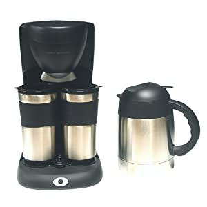 Cooks Coffee Maker Carafe Model 22005 : Amazon.com: Cooks Essentials CETCM2C Coffee Maker with Two Stainless Steel Mugs & One Carafe ...