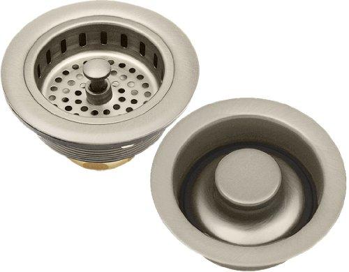 Set Of Satin Nickel Brass Kitchen Sink Basket Strainer