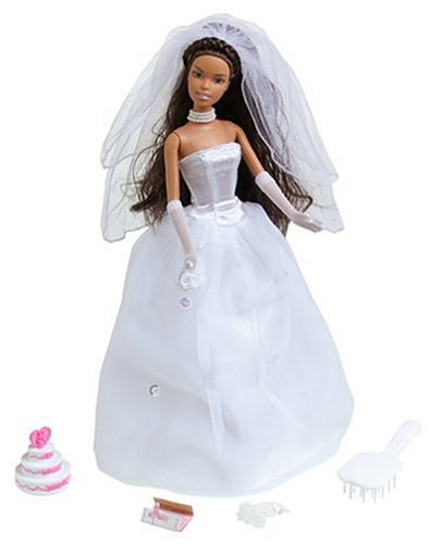 Beautiful Bride Barbie Doll African American - Buy Beautiful Bride Barbie Doll African American - Purchase Beautiful Bride Barbie Doll African American (Mattel, Toys & Games,Categories,Dolls)
