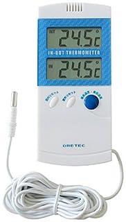 DRETEC 室内室外温度計 O-209BLブルー