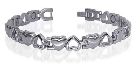 Ladies Gorgeous Stainless Steel Magnetic Bracelet 7.5 ""