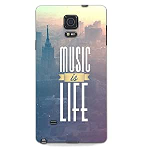 MiiCreations 3D Printed Back Cover for Samsung Galaxy Note 4,Music Is Life