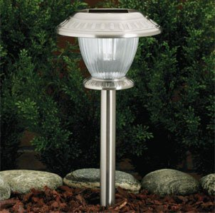 westinghouse set of 12 premium led solar lights w 3 settings stainless stee. Black Bedroom Furniture Sets. Home Design Ideas