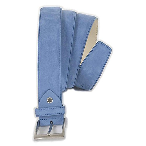 Cintura taglie forti uomo Maxfort 5-XF scamosciata extra lunga - Azzurro, 180 CM