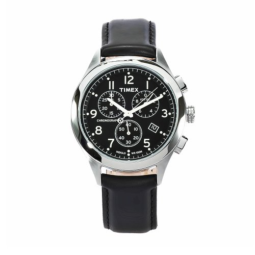 7ccdae0ed26 Timex Men s T2M467 T Series Black Leather Stainless Steel Watch ...