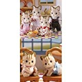 Calico Critters Caramel Cat Family & Twins 6 Figure Set