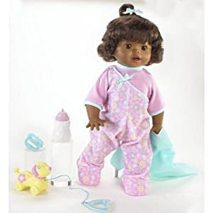 Little Mommy Real Loving Baby Walk & Giggle African-American Doll